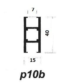 پروفیل آلومینیوم پارتیشن p10b