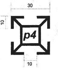 پروفیل آلومینیوم پارتیشن p4