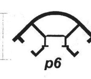 پروفیل آلومینیوم پارتیشن p6